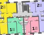 2-комнатная квартира, 64. 6 кв.м., 8/10 этаж, новостройка